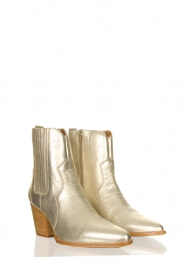 Toral |  Metallic leather ankle boots Jill | gold  | Picture 3