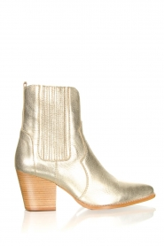 Toral |  Metallic leather ankle boots Jill | gold