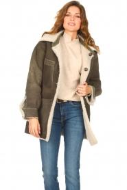 CHPTR S |  groen | Lammy coat Liya  | Picture 4