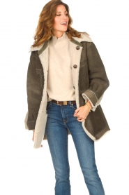 CHPTR S |  groen | Lammy coat Liya  | Picture 5