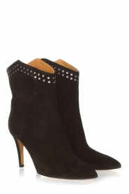 Toral :  Suede ankle boots with studs Joyce | black - img4