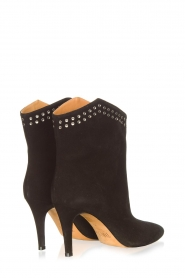 Toral :  Suede ankle boots with studs Joyce | black - img5
