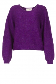 American Vintage |  Knitted sweater East | purple  | Picture 1