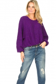 American Vintage |  Knitted sweater East | purple  | Picture 2