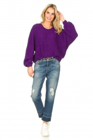 American Vintage |  Knitted sweater East | purple  | Picture 3