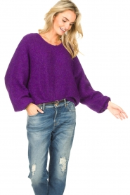 American Vintage |  Knitted sweater East | purple  | Picture 4