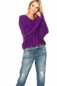 American Vintage |  Knitted sweater East | purple  | Picture 5