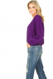 American Vintage |  Knitted sweater East | purple  | Picture 6
