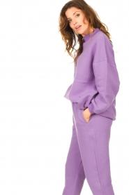 American Vintage | Oversized trui Ikatown | paars  | Afbeelding 5