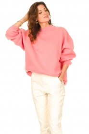 American Vintage    Oversized sweater Ikatown   pink    Picture 5