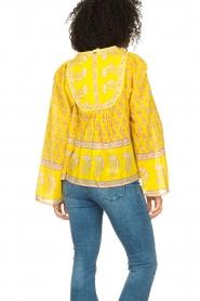 Antik Batik |  Cotton blouse with floral print Mori | yellow  | Picture 6