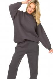 American Vintage |  Oversized sweater Ikatown | dark grey  | Picture 5