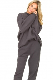 American Vintage |  Oversized sweater Ikatown | dark grey  | Picture 4