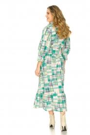 Antik Batik |  Cotton maxi dress Alama | green  | Picture 6