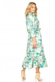 Antik Batik | Katoenen maxi-jurk Alama | groen  | Afbeelding 6
