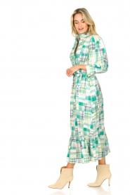Antik Batik |  Cotton maxi dress Alama | green  | Picture 5
