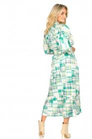 Antik Batik | Katoenen maxi-jurk Alama | groen  | Afbeelding 7