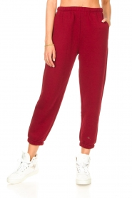 American Vintage |  Sweatpants Ikatown | red  | Picture 5