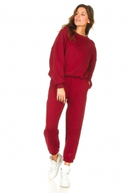 American Vintage |  Sweatpants Ikatown | red  | Picture 2