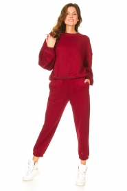 American Vintage |  Sweatpants Ikatown | red  | Picture 3