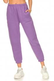 American Vintage |  Sweatpants Ikatown | purple  | Picture 4