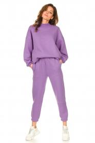 American Vintage |  Sweatpants Ikatown | purple  | Picture 2