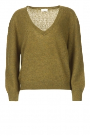 American Vintage    Basic sweater with V-necked Kybird   green    Picture 1