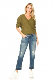 American Vintage    Basic sweater with V-necked Kybird   green    Picture 3