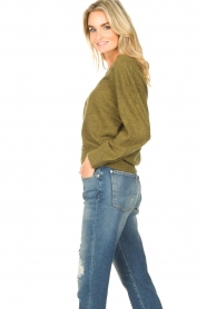 American Vintage    Basic sweater with V-necked Kybird   green    Picture 6