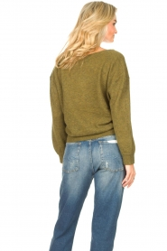 American Vintage    Basic sweater with V-necked Kybird   green    Picture 7