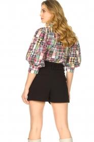 Antik Batik |  Checkered cotton blouse Alama | multi  | Picture 6