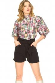 Antik Batik |  Checkered cotton blouse Alama | multi  | Picture 4