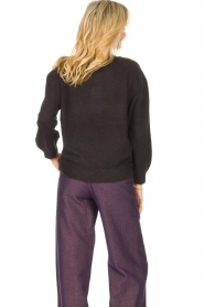 American Vintage |  Basic sweater with V-necked Kybird | black  | Picture 6