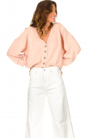 American Vintage |  Knitted cardigan Tidsburg | pink  | Picture 5