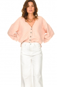 American Vintage |  Knitted cardigan Tidsburg | pink  | Picture 4