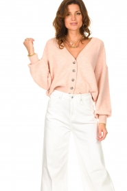 American Vintage |  Knitted cardigan Tidsburg | pink  | Picture 2