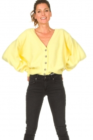 American Vintage |  Knitted cardigan Tidsburg | yellow  | Picture 2