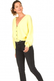 American Vintage |  Knitted cardigan Tidsburg | yellow  | Picture 5