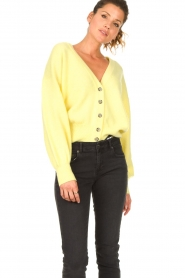 American Vintage |  Knitted cardigan Tidsburg | yellow  | Picture 6