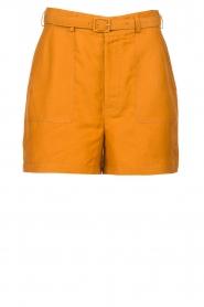 Antik Batik |  Linen high waist shorts Oscar | brown  | Picture 1