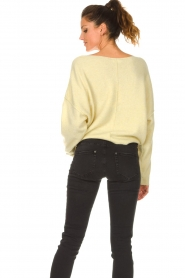 American Vintage |  Knitted sweater Damsville | light yellow  | Picture 7