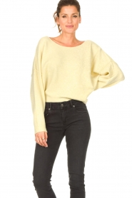 American Vintage |  Knitted sweater Damsville | light yellow  | Picture 2