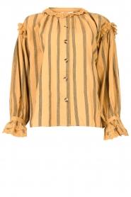 Antik Batik |  Cotton embroidery blouse Rosita | brown  | Picture 1
