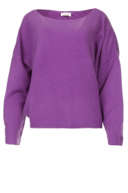 American Vintage |  Knitted sweater Damsville | purple  | Picture 1
