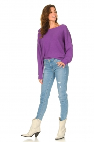 American Vintage |  Knitted sweater Damsville | purple  | Picture 3