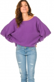 American Vintage |  Knitted sweater Damsville | purple  | Picture 5
