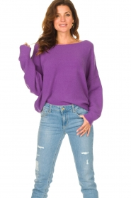 American Vintage |  Knitted sweater Damsville | purple  | Picture 2