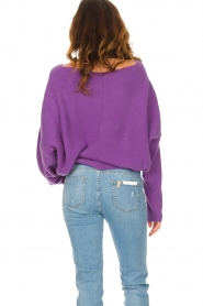 American Vintage |  Knitted sweater Damsville | purple  | Picture 7