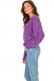 American Vintage |  Knitted sweater Damsville | purple  | Picture 6