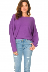 American Vintage |  Knitted sweater Damsville | purple  | Picture 4